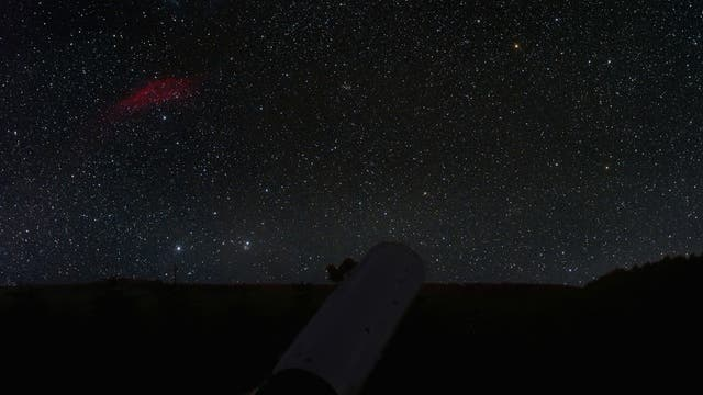 komet 17P mit Californianebel