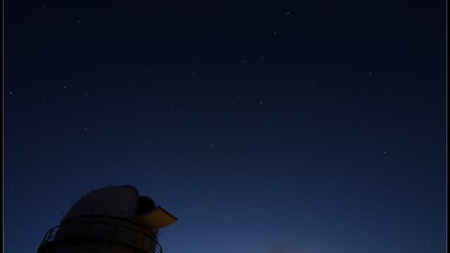 Der Große Bär über dem Skinakas-Observatorium
