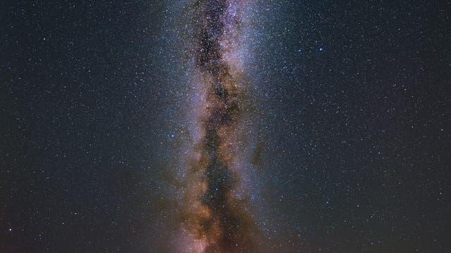 Milchstraße von letzter Nacht auf der Wasserkuppe