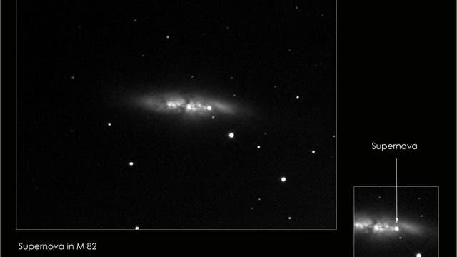 M82 mit Supernova 2014J