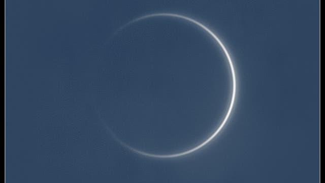Kurz vor unterer Konjunktion: 0,08 Prozent Venussichel