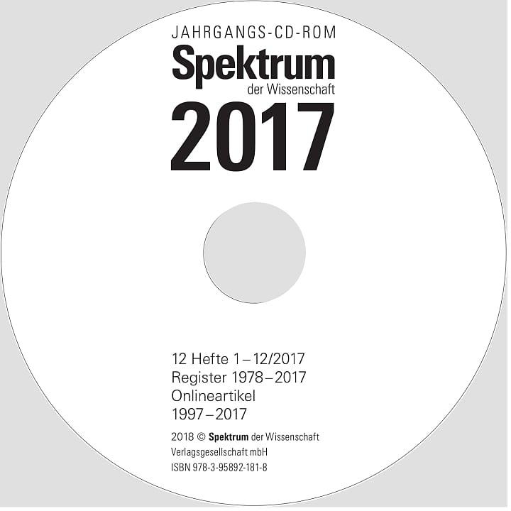 Spektrum der Wissenschaft Jahrgang 2017