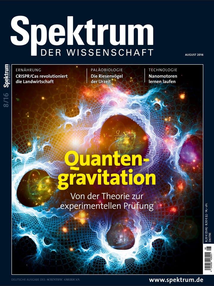 Spektrum der Wissenschaft August 2016