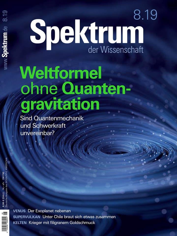 Spektrum der Wissenschaft August 2019