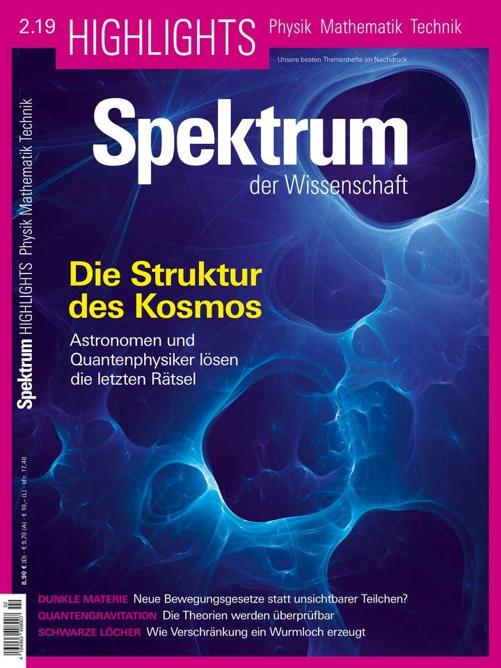Spektrum der Wissenschaft Highlights 2/2019<br /> Die Struktur des Kosmos