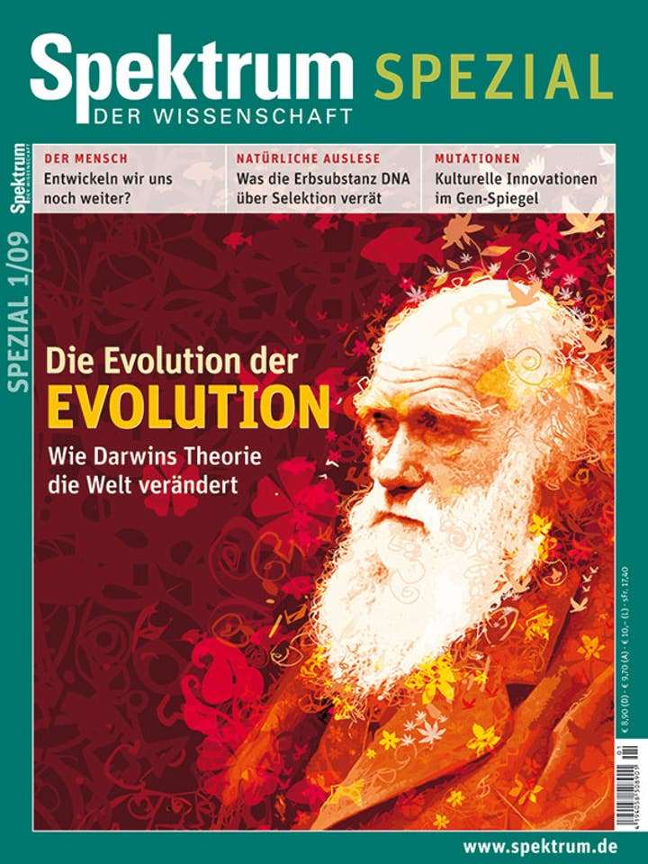 Spektrum der Wissenschaft Spezial 1/2009<br /> Die Evolution der Evolution