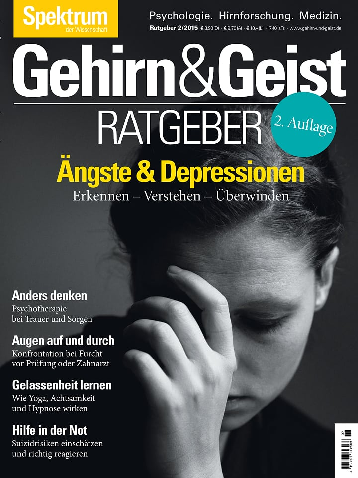 Heftcover Gehirn&Geist Ratgeber 2/2015 Ängste und Depressionen