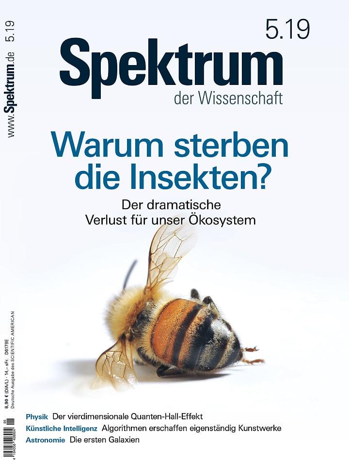 Heftcover Spektrum der Wissenschaft Mai 2019