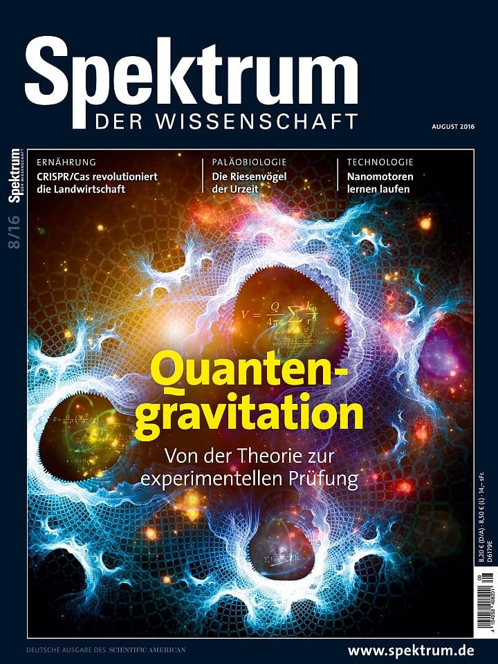 Heftcover Spektrum der Wissenschaft August 2016