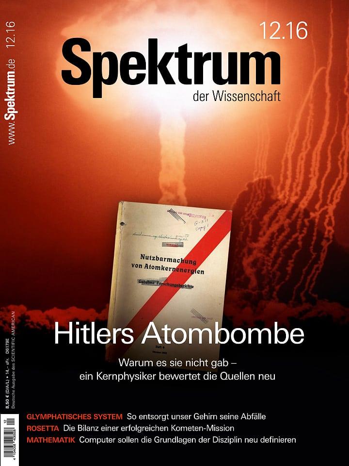 Heftcover Spektrum der Wissenschaft Dezember 2016