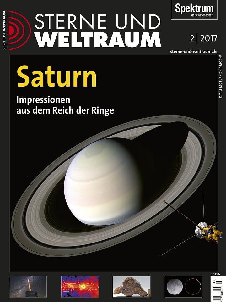 Heftcover Sterne und Weltraum Februar 2017