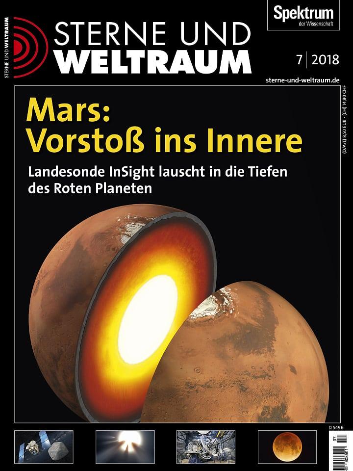 Heftcover Sterne und Weltraum Juli 2018