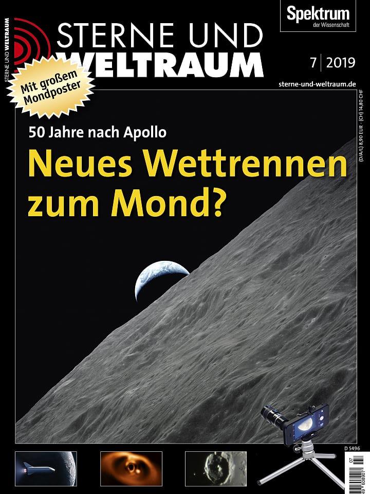 Heftcover Sterne und Weltraum Juli 2019