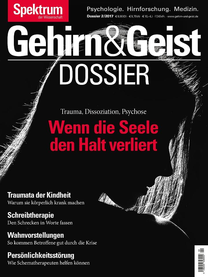 Heftcover Gehirn&Geist Dossier 2/2017 Wenn die Seele den Halt verliert