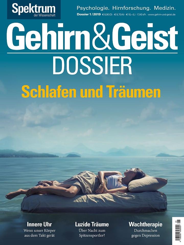 Heftcover Gehirn&Geist Dossier 1/2019 Schlafen und Träumen