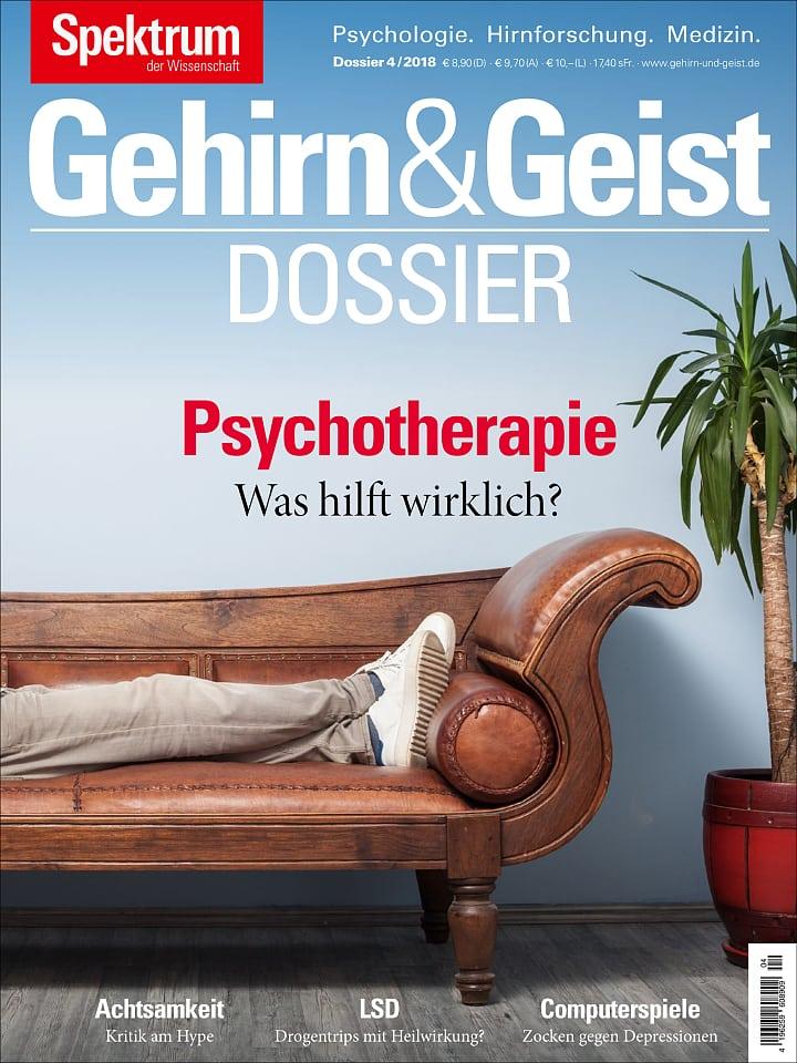Heftcover Gehirn&Geist Dossier 4/2018 Psychotherapie