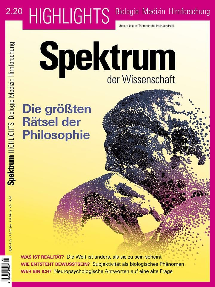 Heftcover Spektrum der Wissenschaft Highlights 2/2020 Die größten Rätsel der Philosophie