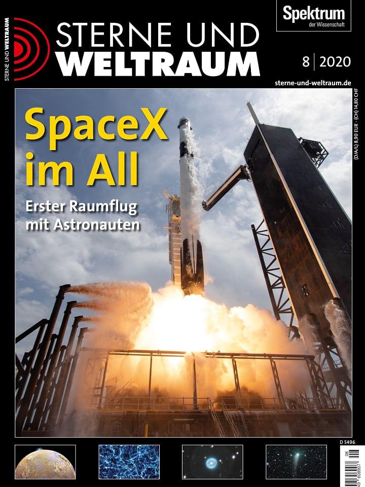 Heftcover Sterne und Weltraum August 2020