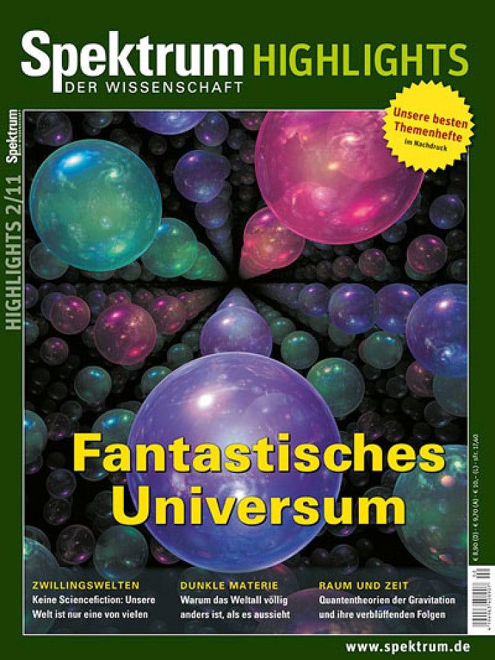 Heftcover Spektrum der Wissenschaft Highlights 2/2011 Fantastisches Universum