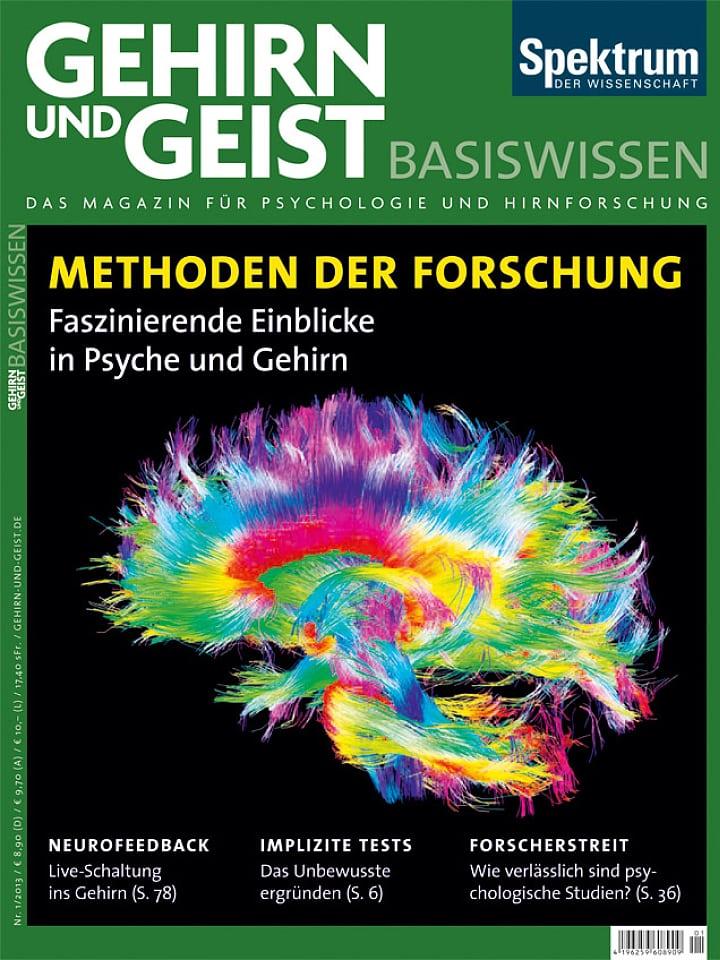 Heftcover Gehirn&Geist Basiswissen Teil 6 Methoden der Forschung