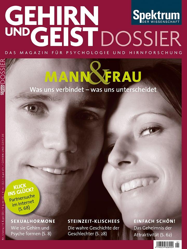 Heftcover Gehirn&Geist Dossier 1/2014 Mann & Frau
