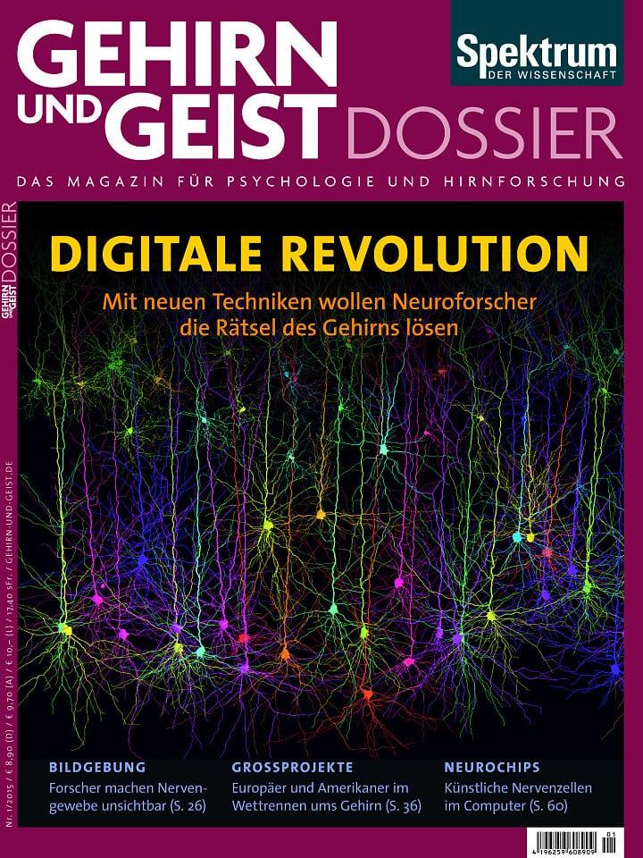 Heftcover Gehirn&Geist Dossier 1/2015 Digitale Revolution