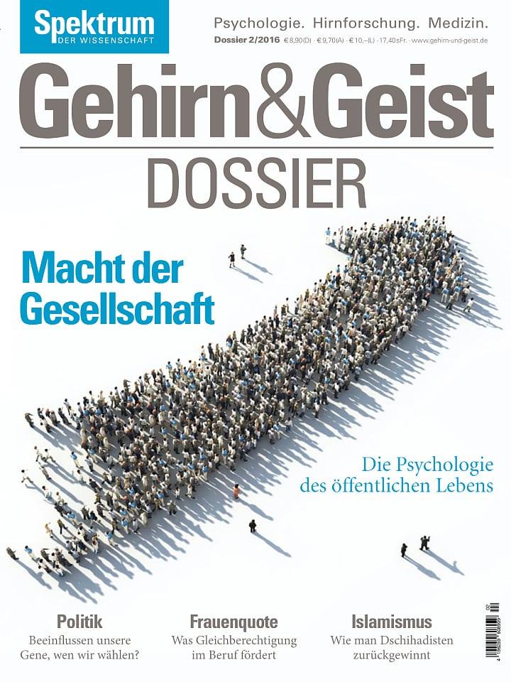 Heftcover Gehirn&Geist Dossier 2/2016 Macht der Gesellschaft