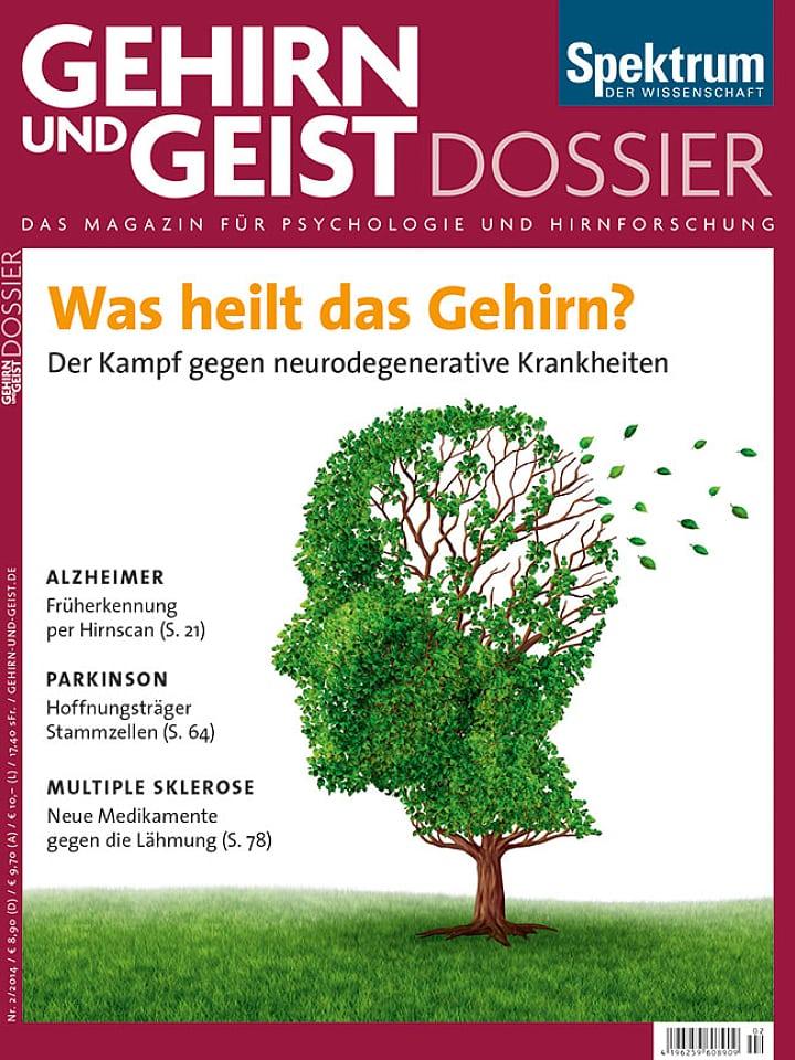 Heftcover Gehirn&Geist Dossier 2/2014 Was heilt das Gehirn?