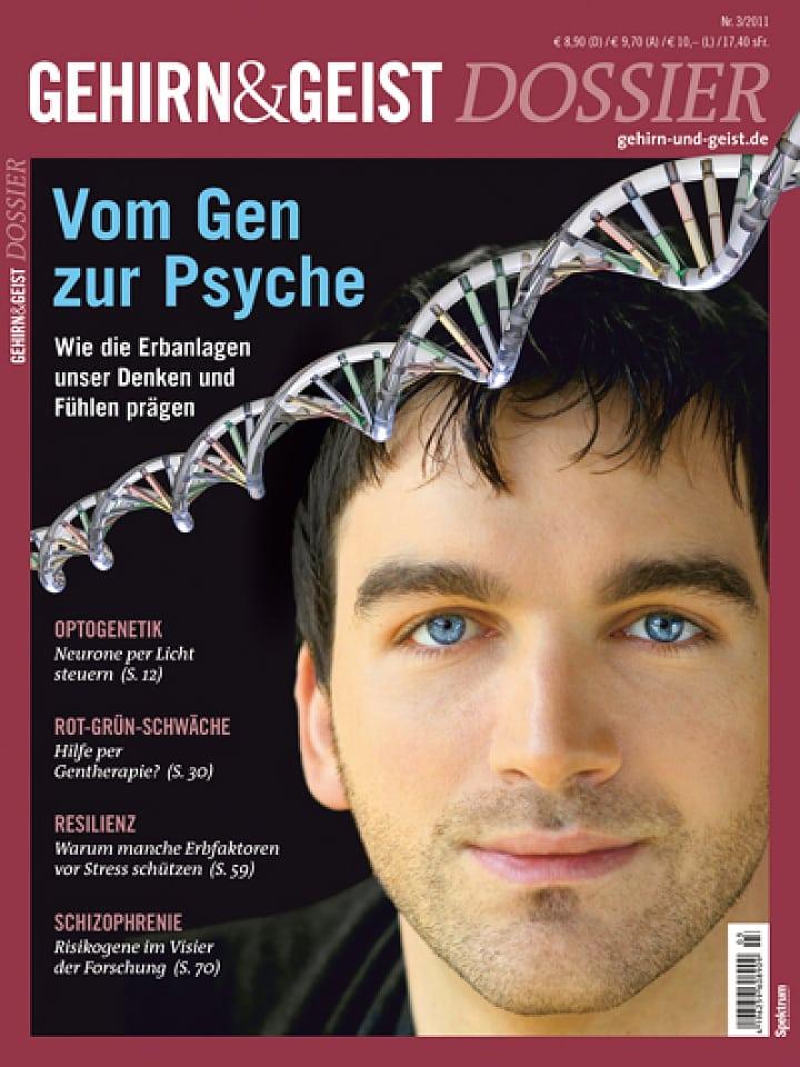 Heftcover Gehirn&Geist Dossier 3/2011 Vom Gen zur Psyche