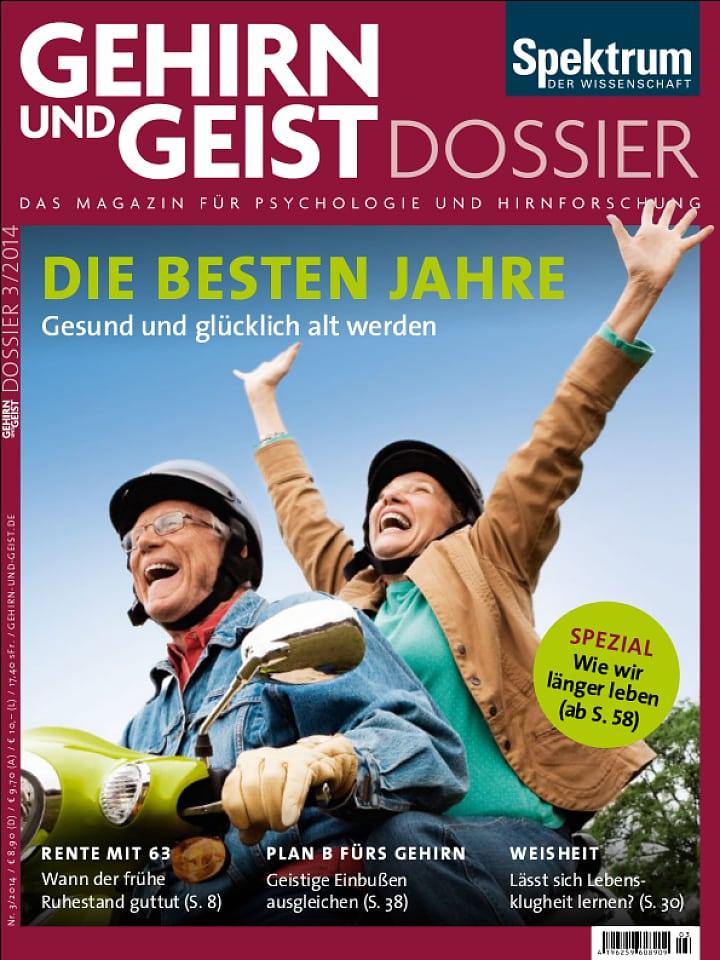 Heftcover Gehirn&Geist Dossier 3/2014 Die besten Jahre