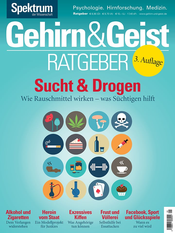 Heftcover Gehirn&Geist Ratgeber 1/2015 Sucht & Drogen