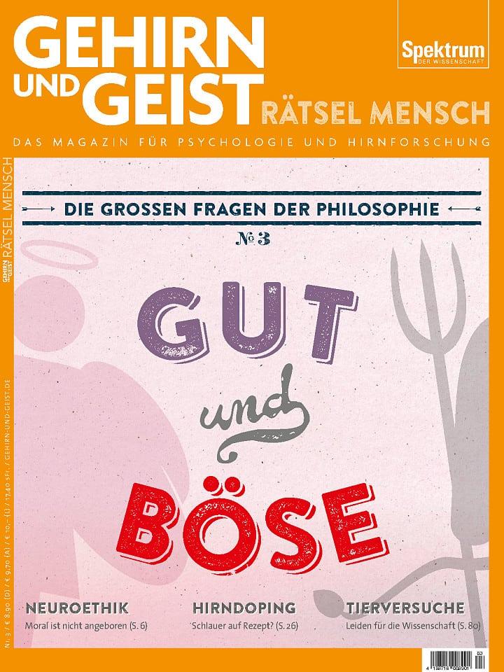 Heftcover Gehirn&Geist Rätsel Mensch Nr. 3 Gut und Böse