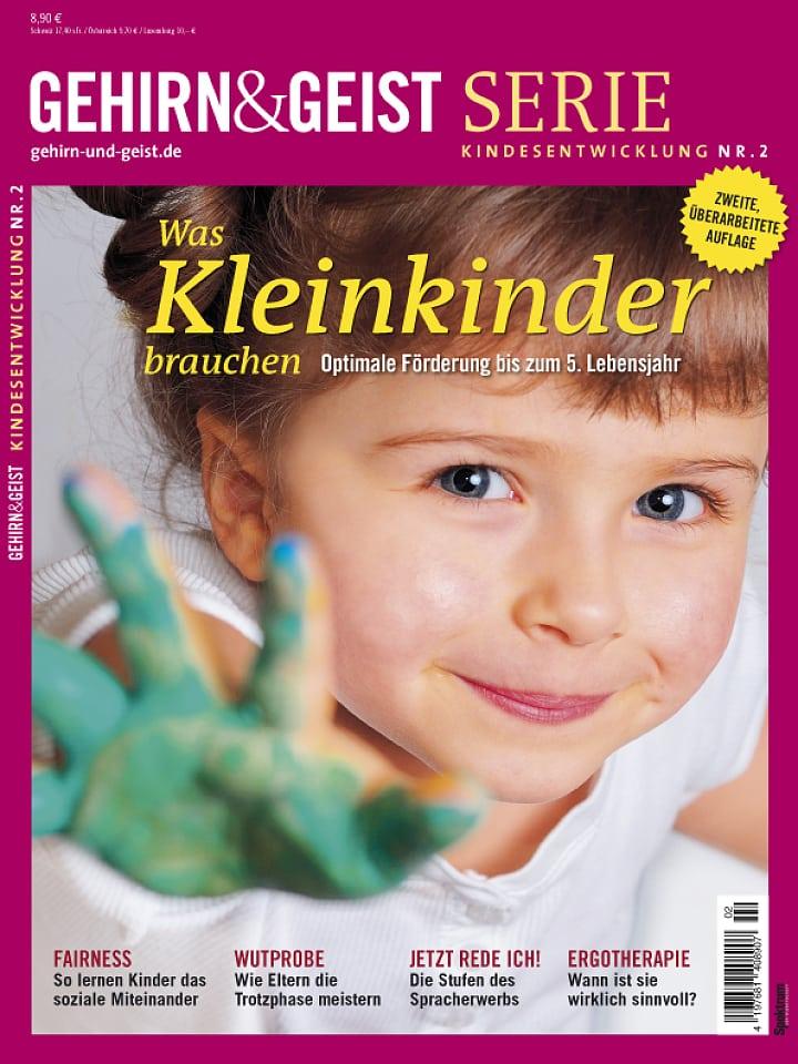 Heftcover Gehirn&Geist Serie Kindesentwicklung Nr. 2 Was Kleinkinder brauchen