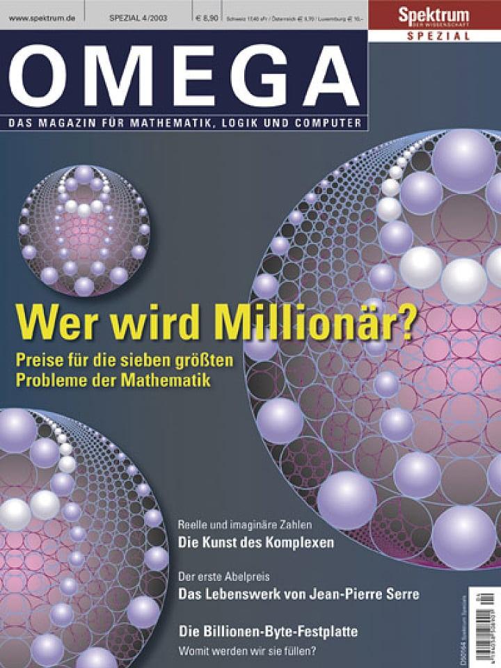 Heftcover Spektrum der Wissenschaft Spezial 4/2003 Omega