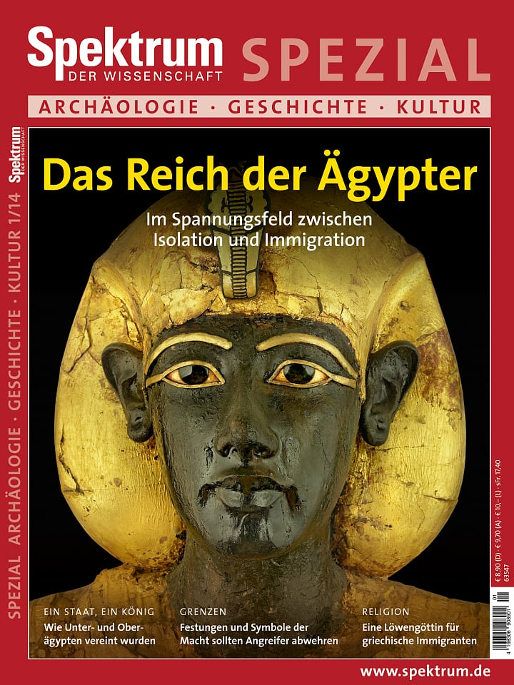 Heftcover Spektrum der Wissenschaft Spezial Archäologie – Geschichte – Kultur 1/2014 Das Reich der Ägypter