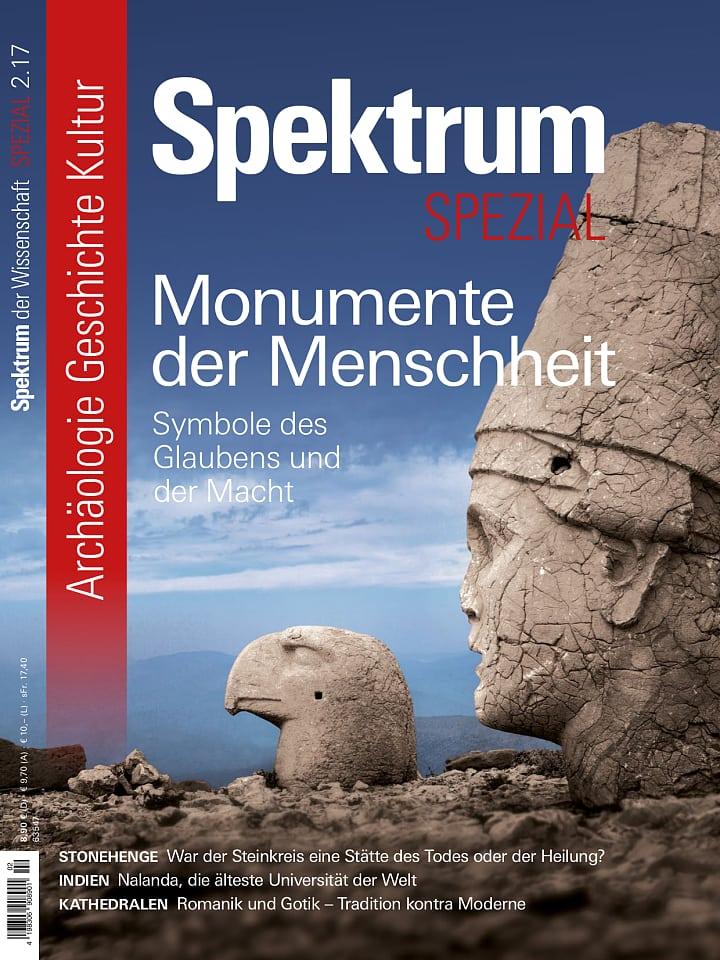 Heftcover Spektrum der Wissenschaft Spezial Archäologie – Geschichte – Kultur 2/2017 Monumente der Menschheit