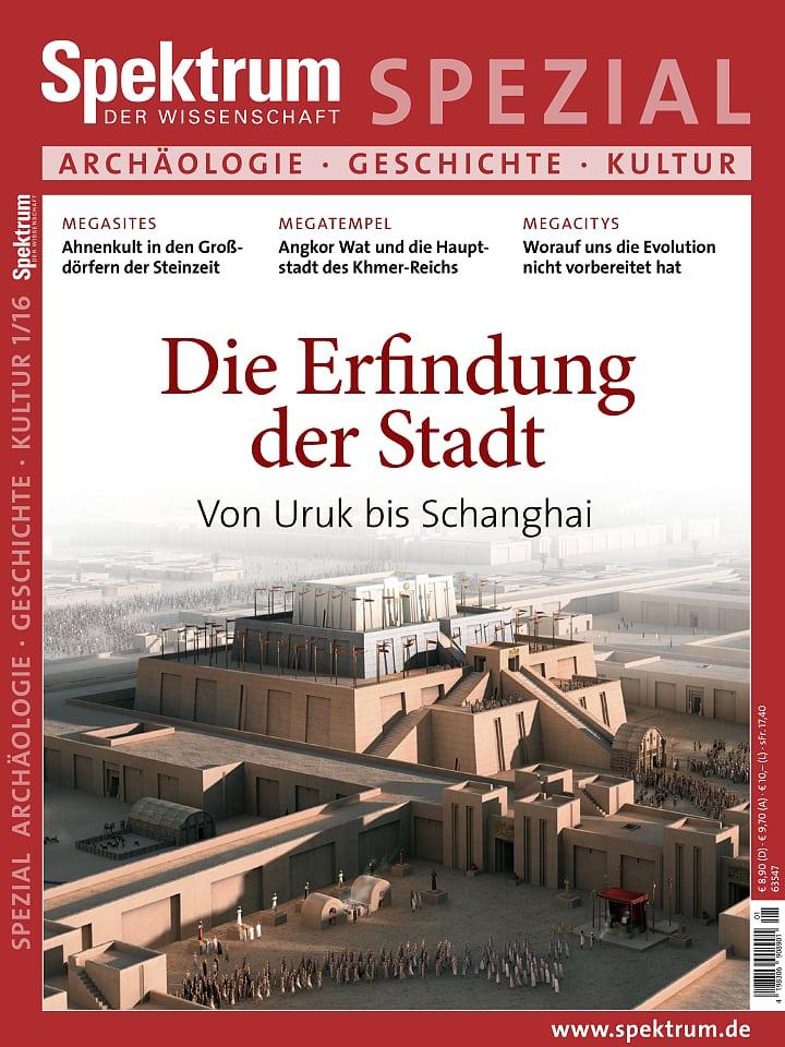 Spezial Archäologie - Geschichte - Kultur 1/2016