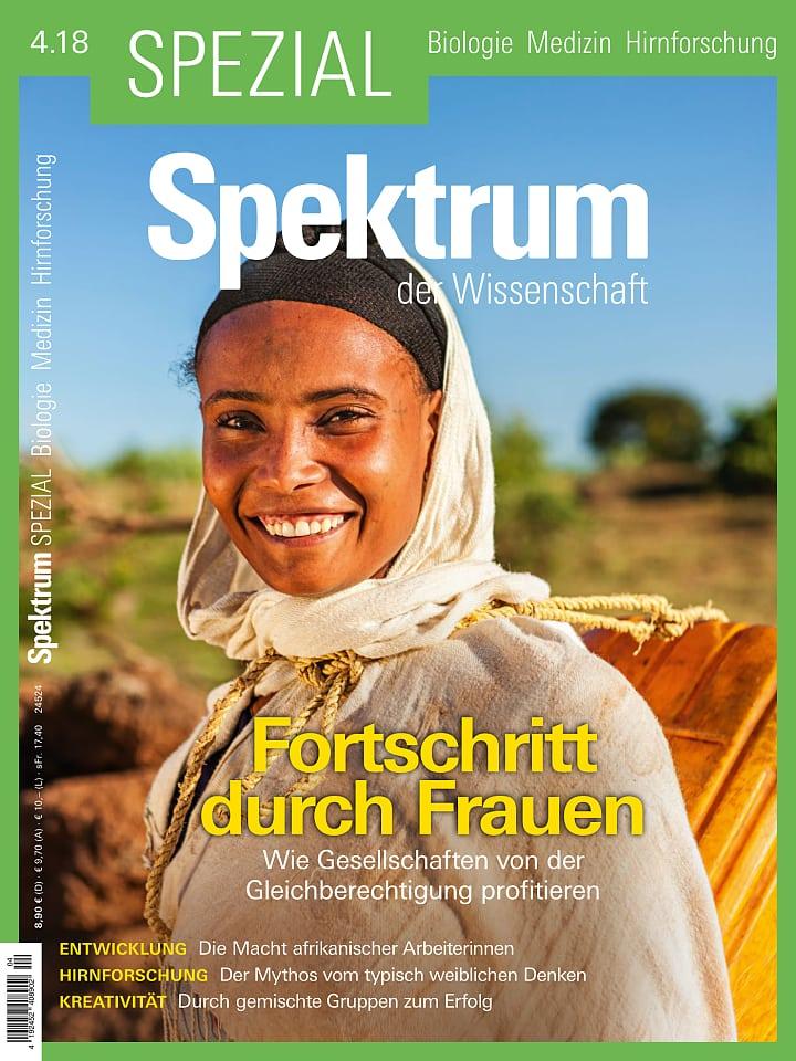 Heftcover Spektrum der Wissenschaft Spezial Biologie – Medizin – Hirnforschung 4/2018 Fortschritt durch Frauen