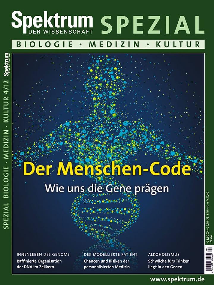 Heftcover Spektrum der Wissenschaft Spezial Biologie – Medizin – Kultur 4/2012 Der Menschen-Code