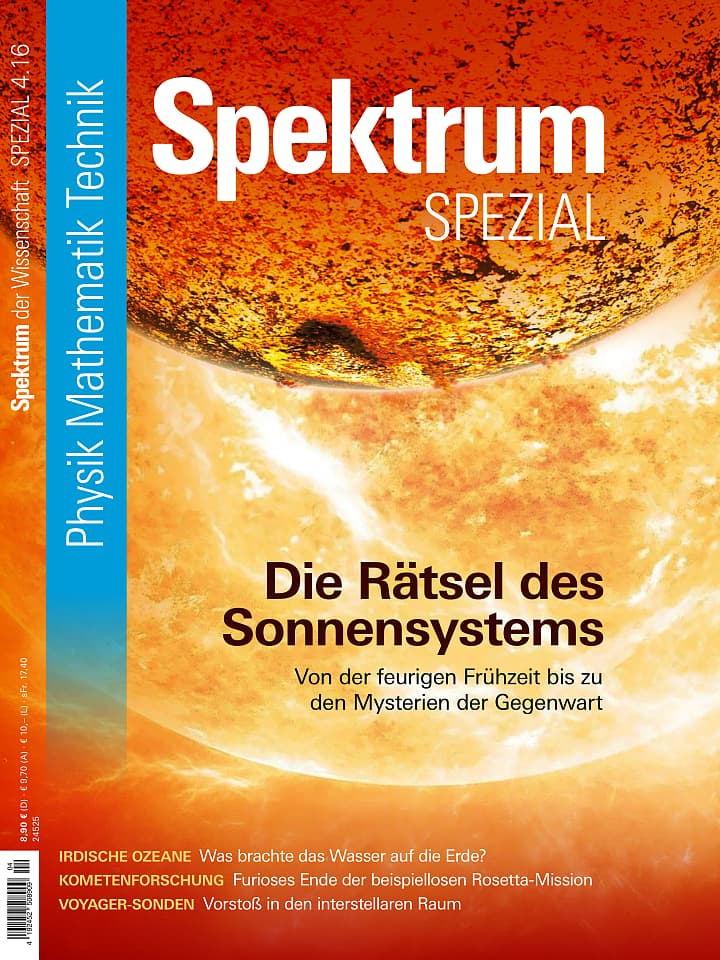 Heftcover Spektrum der Wissenschaft Spezial Physik – Mathematik – Technik 4/2016 Die Rätsel des Sonnensystems