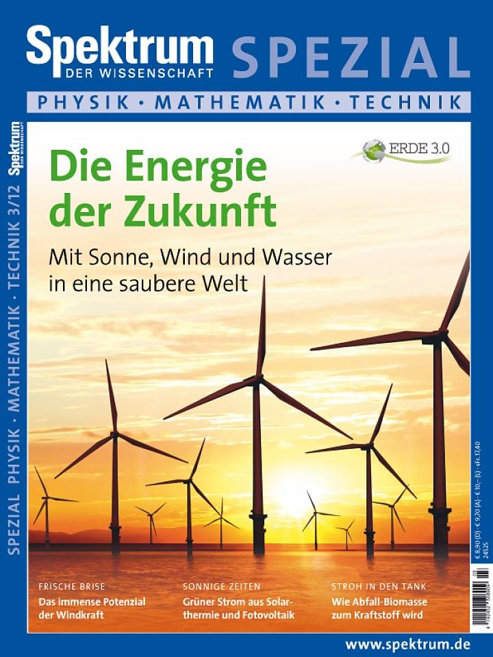 Heftcover Spektrum der Wissenschaft Spezial Physik – Mathematik – Technik 3/2012 Erde 3.0 – Die Energie der Zukunft