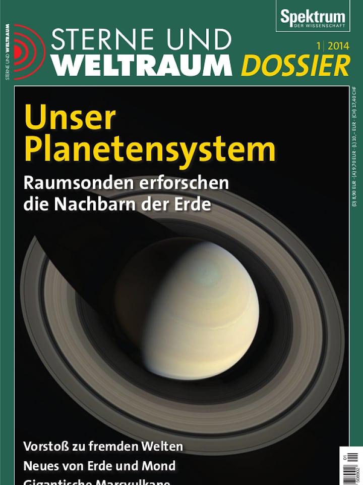 Heftcover Sterne und Weltraum Dossier 1/2014 Unser Planetensystem
