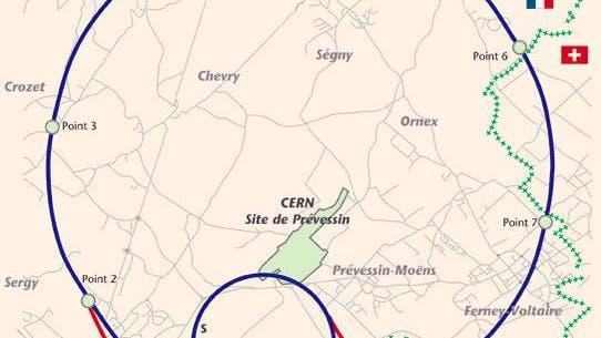 Lageplan des LHC