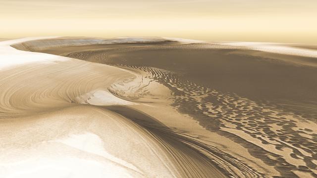 Blick auf den Marsnordpol (Bilddaten von Mars Odyssey)