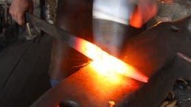 Glühendes Metall