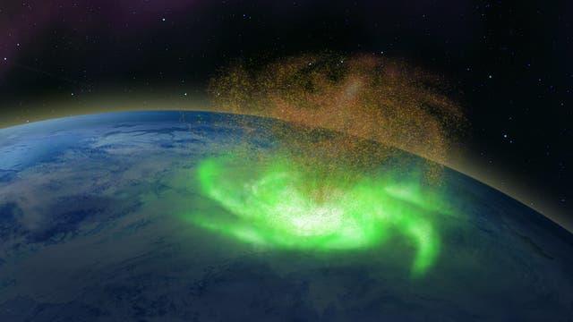 Die Entdeckung eines Weltraum-Hurrikans hoch über der Erde könnte bedeuten, dass noch mehr solcher Stürme an anderen planetaren Himmelskörpern herumwirbeln.
