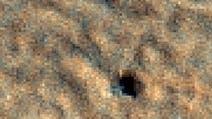 Fleck auf dem Mars