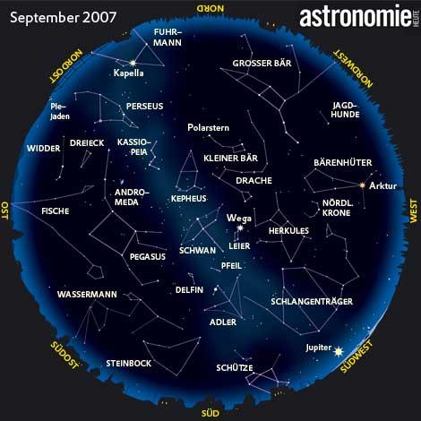 Der Sternenhimmel im September2007