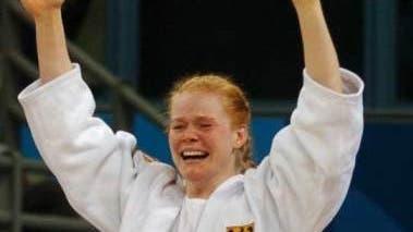 Jubelnde Judoka