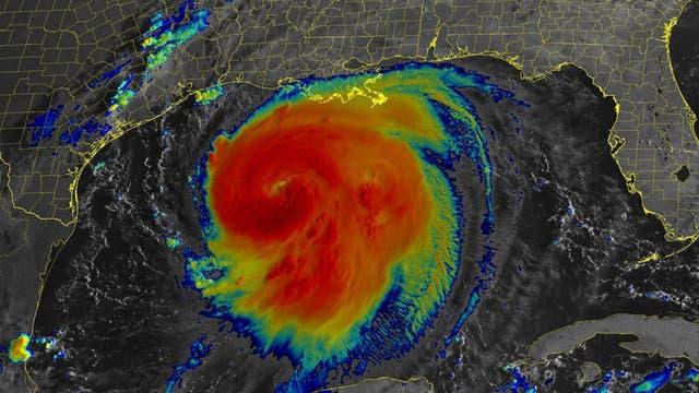 Die Infrarot-Satellitenansicht zeigt Hurrikan »Laura« am 26. August 2020.